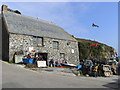 SW7214 : Cadgwith, the winch house by Chris Allen