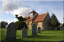 SO9832 : Alstone church and yew tree, Gloucestershire by Roger Davies