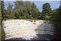 SJ9791 : Weir on River Etherow by Phil Champion