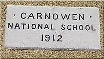 H2499 : Plaque, Carnowen National School by Kenneth  Allen