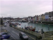 SY6778 : South side, Weymouth Harbour by mick finn