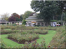 TQ3005 : The Rotunda Cafe and Rose Garden Preston Park by David Chappell