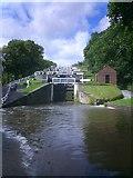 SE1039 : Bingley Five Rise Locks by Anthony Foster