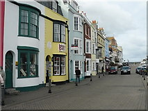 SY6778 : Weymouth - Harbourside Shops by Chris Talbot